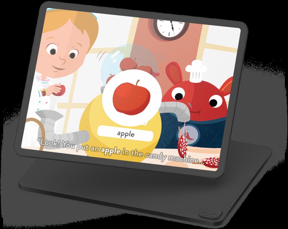 """Capture d'écran de l'application - Vidéo apprentissage du mot """"apple"""""""